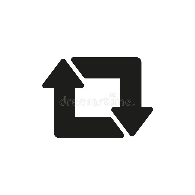 Free Vector Repost Flat Icon On A Black And White Background Royalty Free Stock Images - 170805479