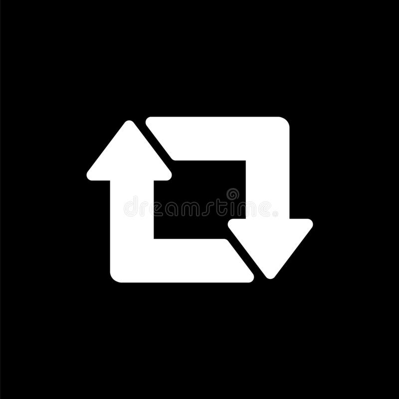 Free Vector Repost Flat Icon On A Black And White Background Stock Photos - 170806403