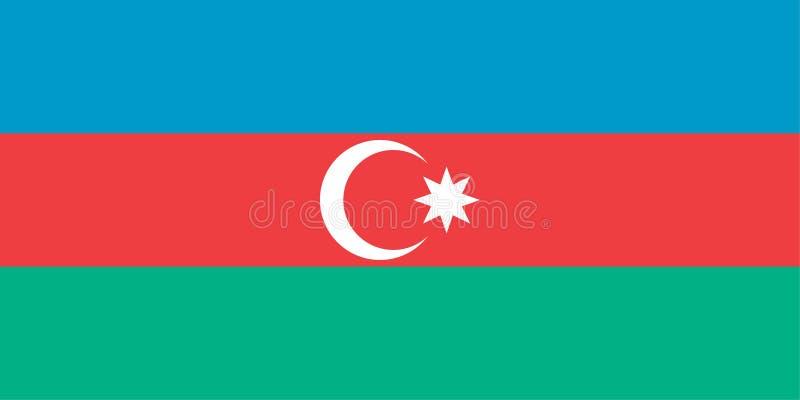 Azerbaijan officially flag stock illustration