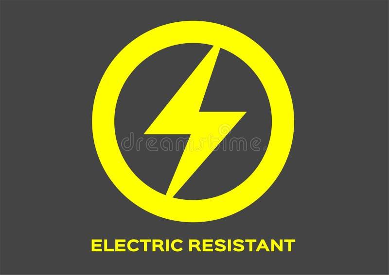 Vector resistente eléctrico del icono libre illustration