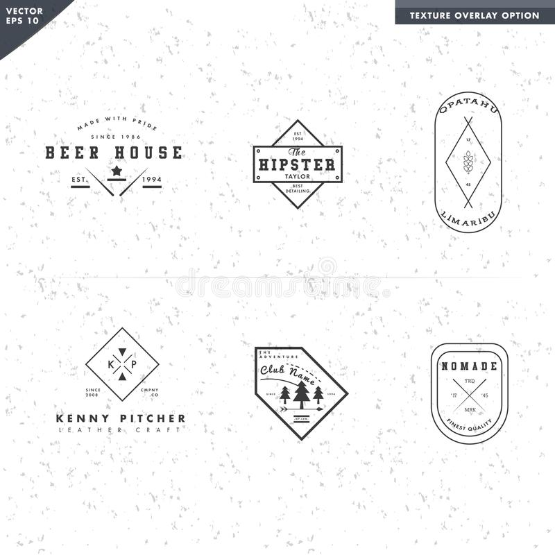 Square logo badge template for food restaurant, beer for bar and camp tree. Vector, resizeable Cool logo badge template for food restaurant, beer for bar and vector illustration