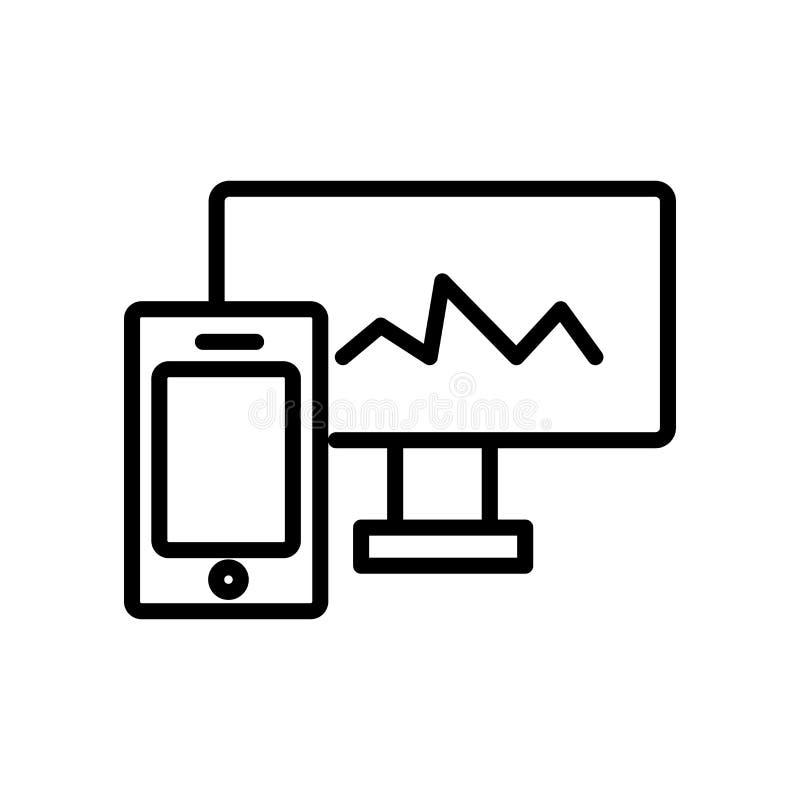 Vector responsivo del icono aislado en el fondo blanco, los elementos responsivos de la muestra, de la línea y del esquema en est libre illustration