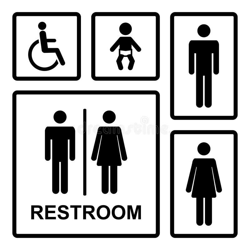 Vector Restroom Icons Set Stock Vector Illustration Of Hygienics