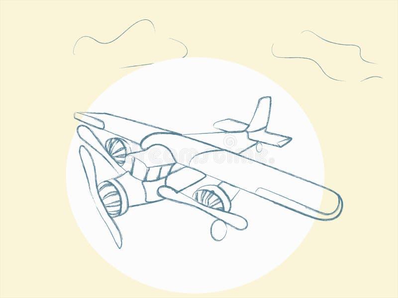 Vector Retro Airplane stock illustration
