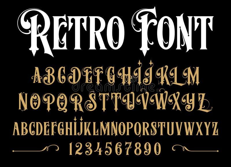 Vector retro alphabet. Vintage font. vector illustration
