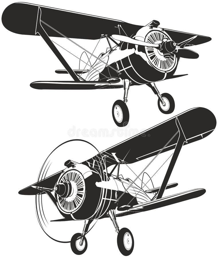 Free Vector Retro Biplane Stock Photo - 21300840