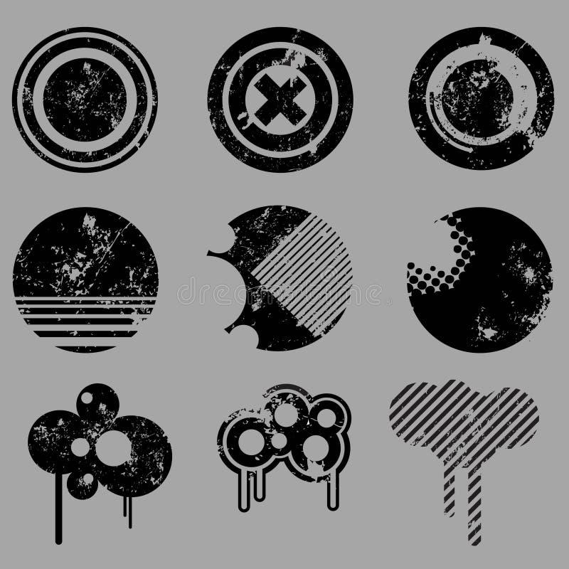 Vector retro de los elementos del diseño ilustración del vector