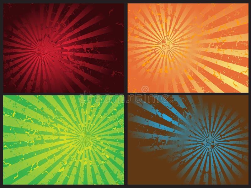 Vector retro del grunge de la explosión de la estrella ilustración del vector
