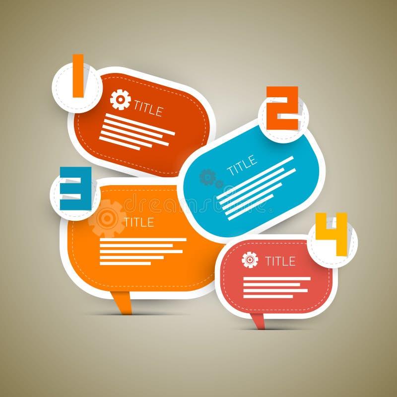 Vector Retro Document Vooruitgangsstappen voor Leerprogramma stock illustratie