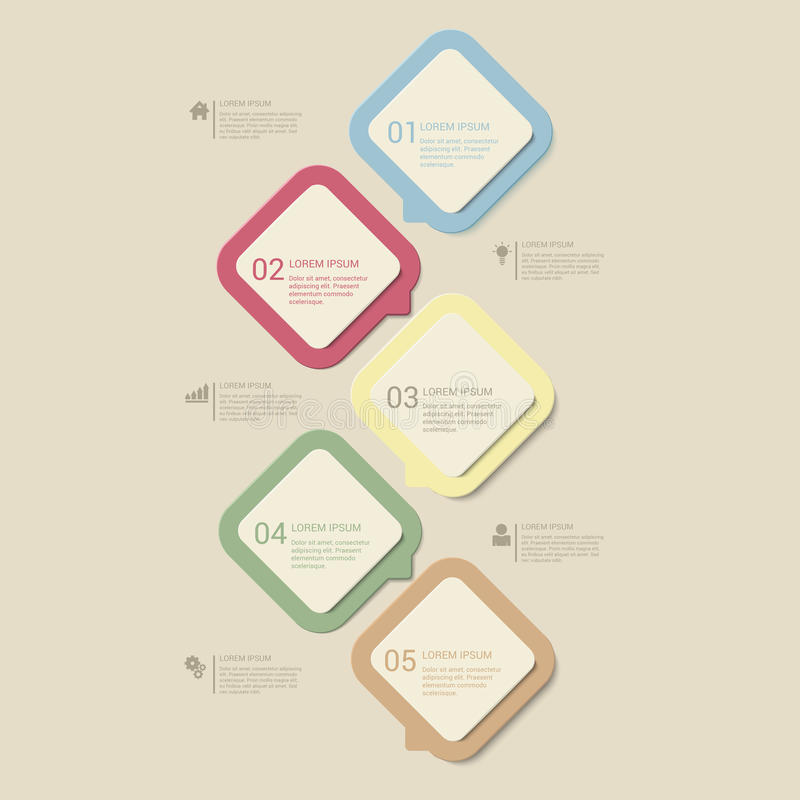 Free Vector Retro Dusk Process Steps Infographics Template Background Royalty Free Stock Image - 59052006