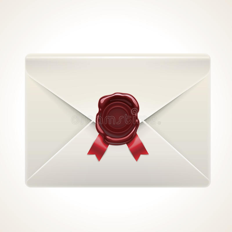 Vector retro envelope icon stock illustration