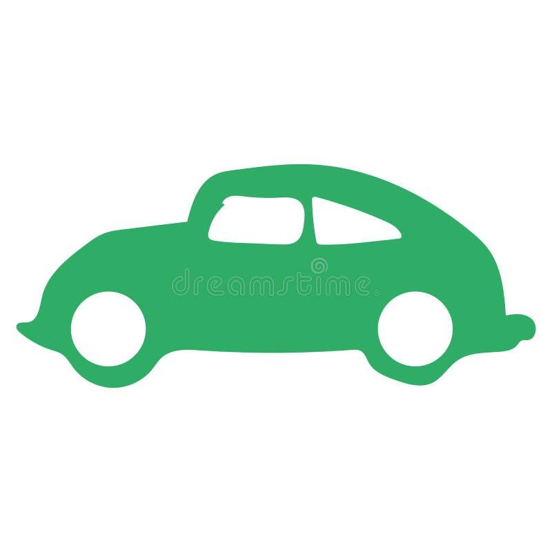 Vector retro eps10 del icono del coche Vieja muestra clásica retra del color verde del coche libre illustration