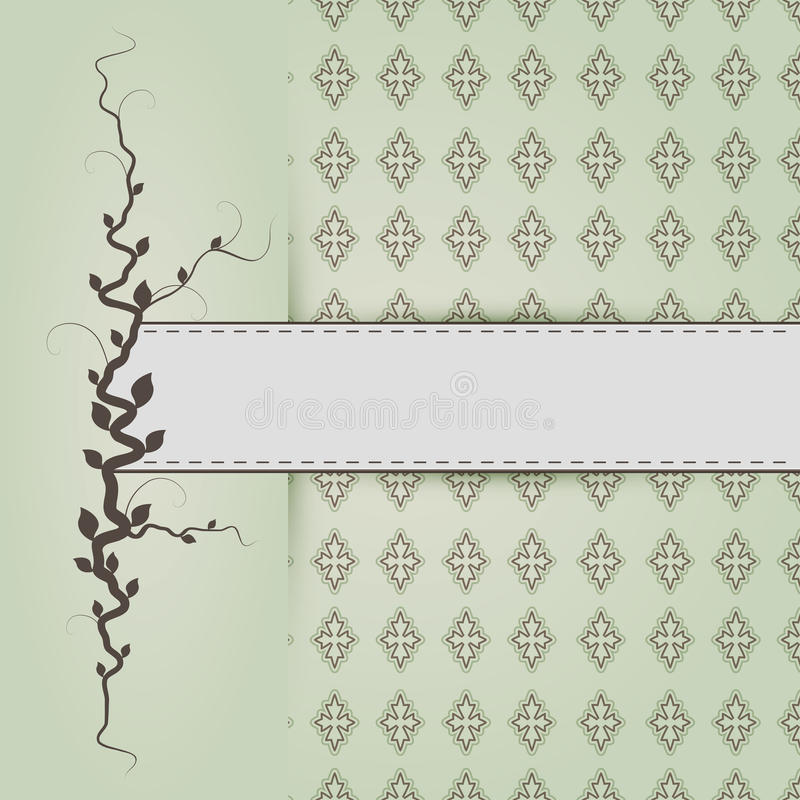 Vector retro floral background with copy space stock image