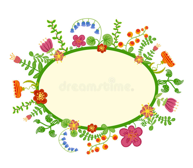 Download Vector Retro Floral Background, Frame Stock Photos - Image: 34442343