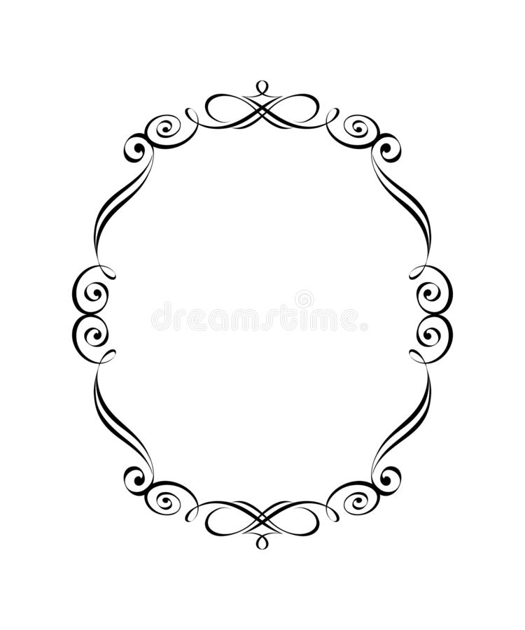 Vector retro frames .Vector illustration.Black. vector illustration