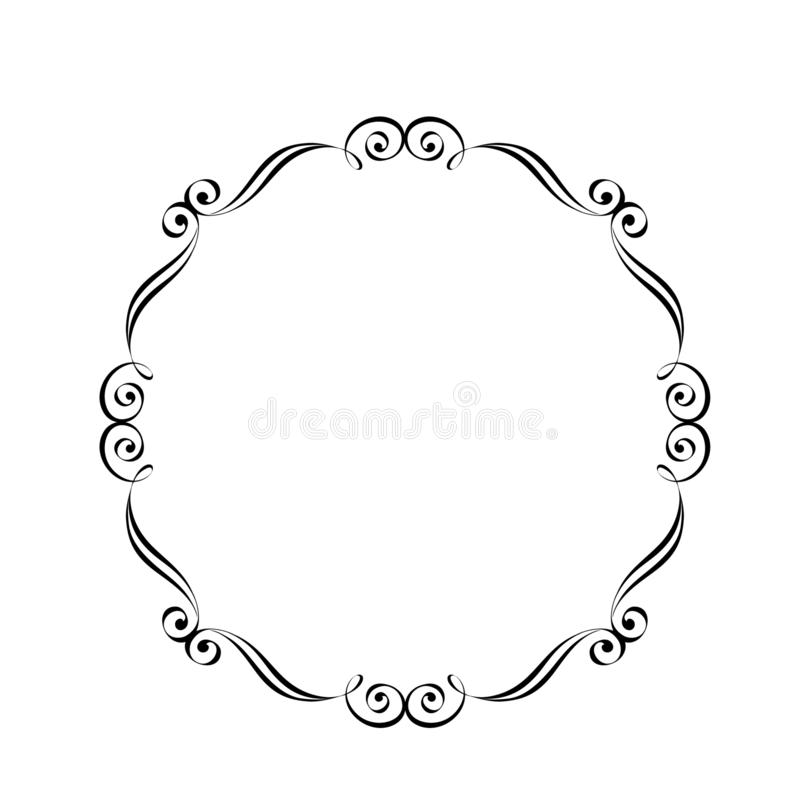 Vector retro frames .Vector illustration.Black. stock illustration
