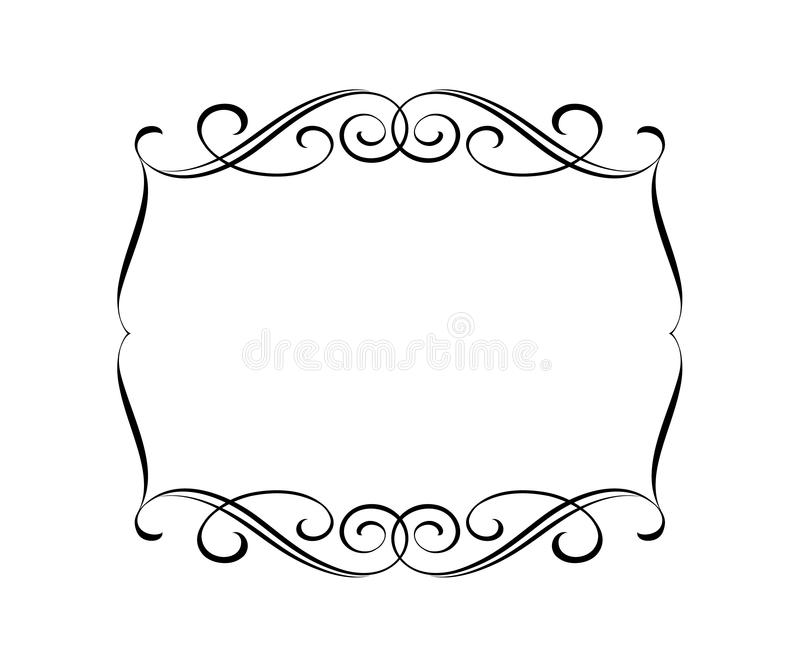 Vector retro frames .Vector illustration.Black white. stock illustration
