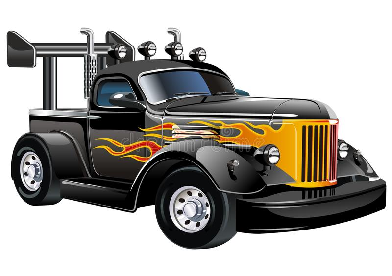 how to draw a hot rod truck