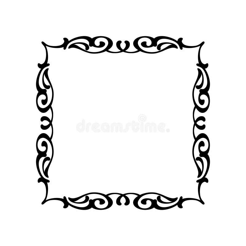 Vector retro kaders Vector illustratie Zwart Wit vector illustratie