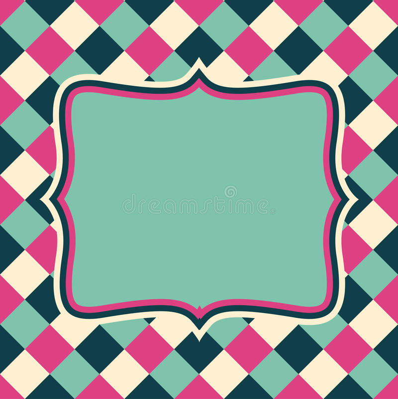 Vector retro lay-out op abstract geometrisch naadloos patroon vector illustratie
