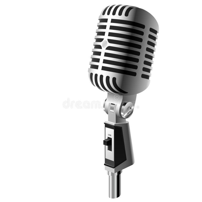 Vector retro microfoon stock illustratie