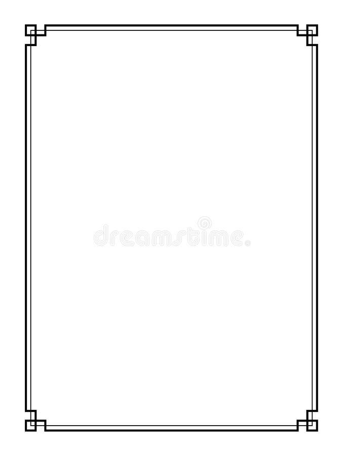 Vector retro paginagrens vector illustratie