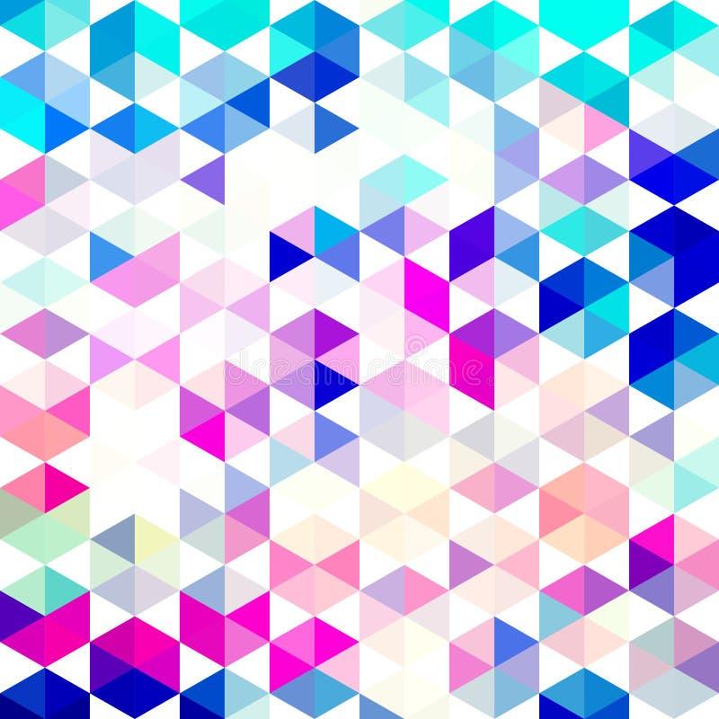 Vector retro patroon van geometrische vormen Kleurrijke mozaïekbanner stock illustratie