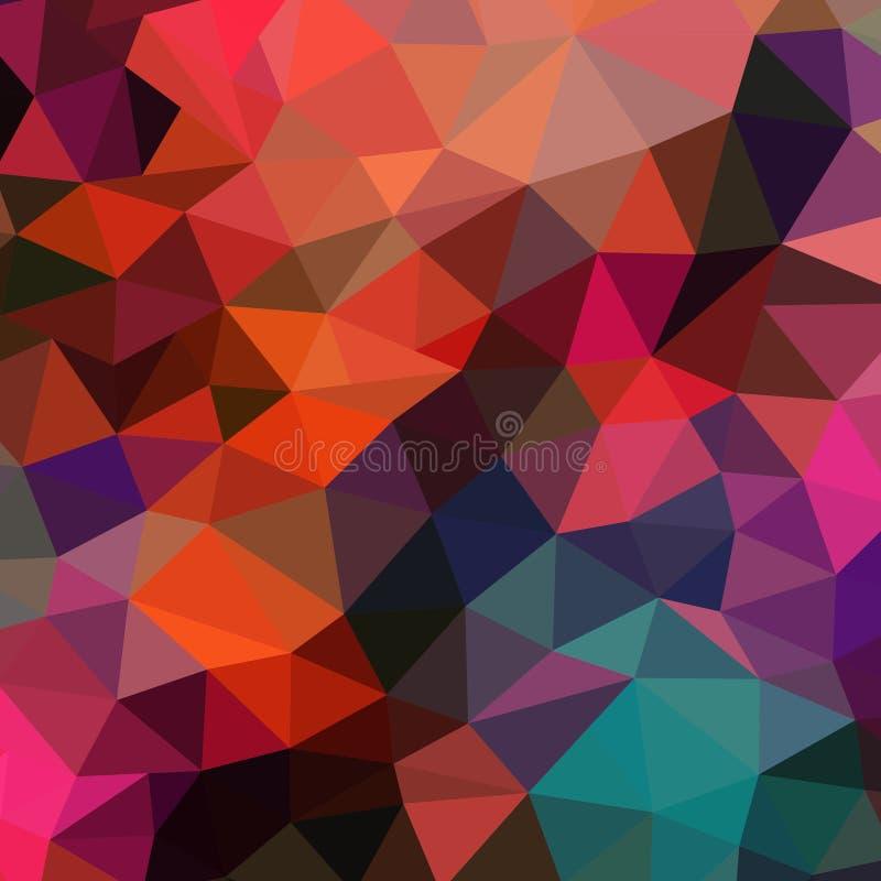 Vector retro patroon van geometrische vormen Kleurrijke mozaïekbanner royalty-vrije illustratie