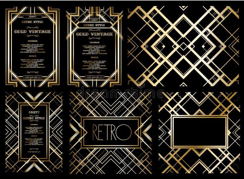 Vector retro patroon voor uitstekende partij royalty-vrije stock afbeeldingen