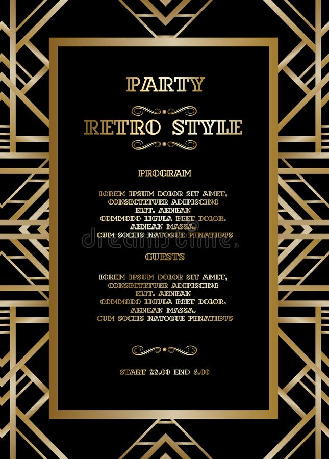 Vector retro pattern for vintage party royalty free illustration