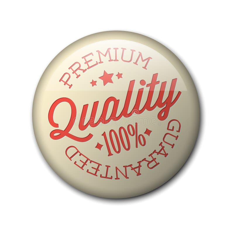 Vector retro premium quality badge vector illustration