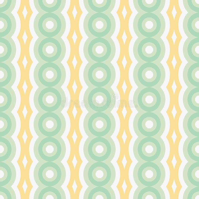 Vector retro rounded seamless pattern. Abstract geometric garlands for textile, prints, wallpaper, wrapping paper, web stock illustration