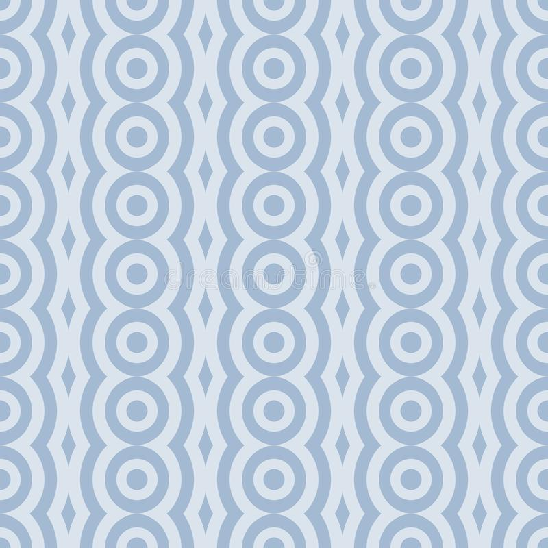 Vector retro rounded seamless pattern. Abstract geometric garlands for textile, prints, wallpaper, wrapping paper, web. Etc royalty free illustration