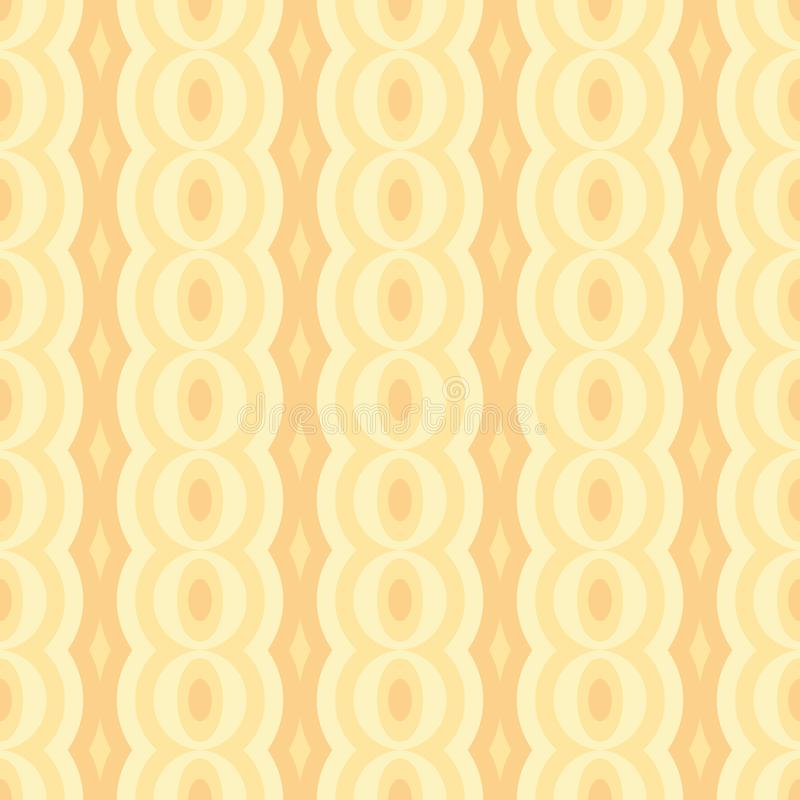 Vector retro rounded seamless pattern. Abstract natural garlands for textile, prints, wallpaper, wrapping paper, web etc. EPS royalty free illustration