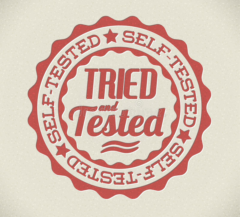 Download Vector Retro Self Tried And Tested Stamp Stock Vector - Image: 24264904