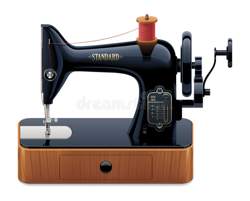 Download Vector Retro Sewing Machine Stock Photos - Image: 27642383
