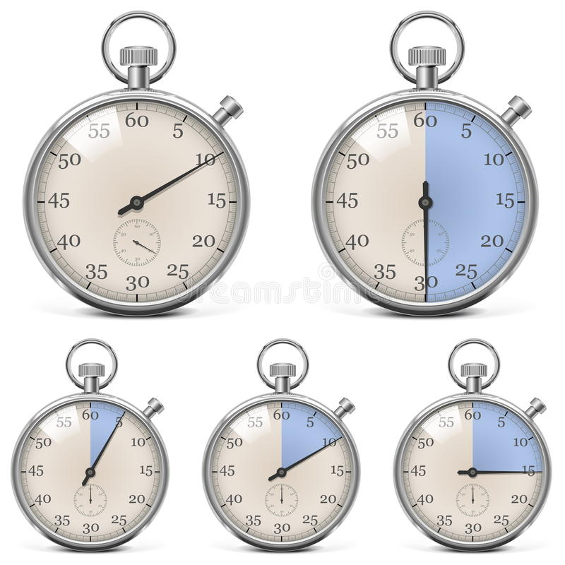 Download Vector Retro Stopwatch Set stock vector. Image of speed - 33688560