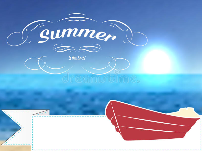 Vector retro summer postcard or poster, background