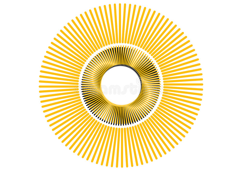 Download Vector retro sun stock vector. Illustration of logo, rotate - 4249678