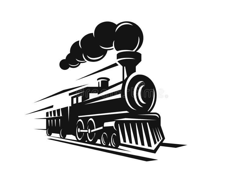 Vector retro train royalty free illustration