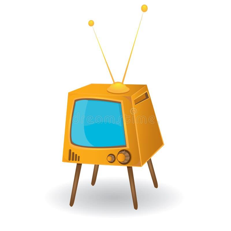 vector Retro tv.