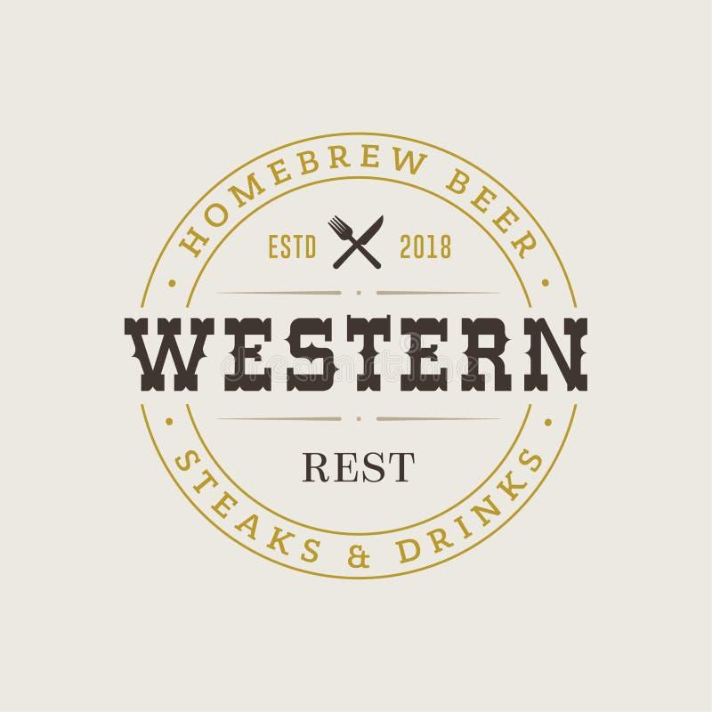 Vector Retro Uitstekend Embleem of Logotype-van Bedrijfs ontwerpelementen Teken Hipster Logo Identity stock illustratie