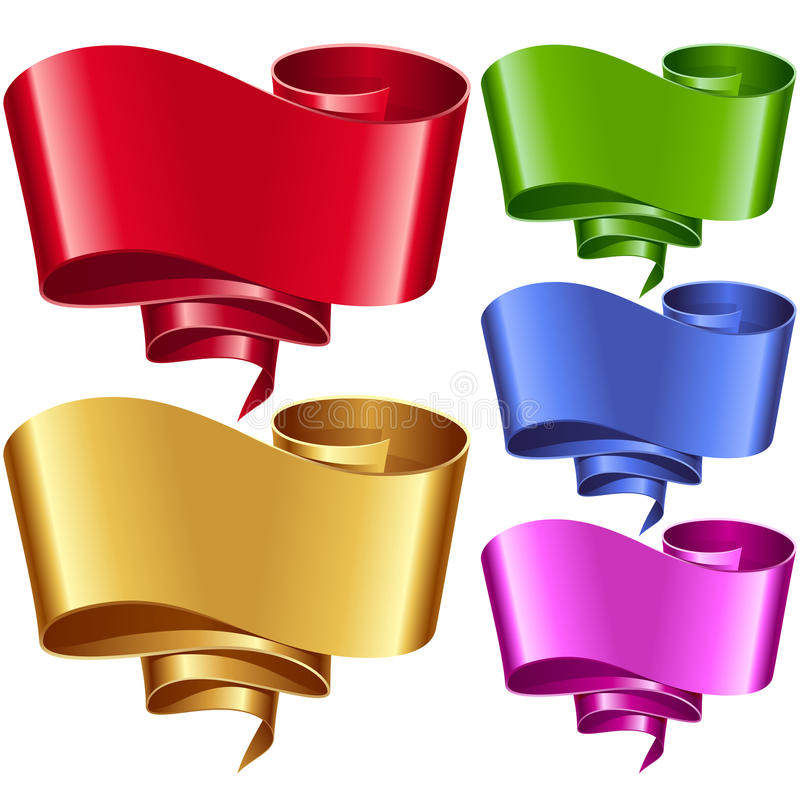 Vector ribbon frames set. Banners in the shape of speech bubble vector illustration