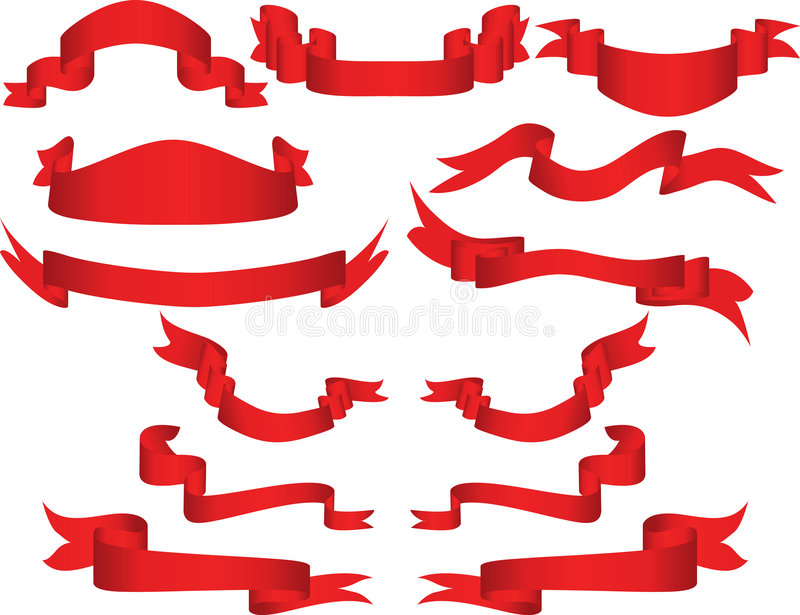 Vector Ribbons Stock Images
