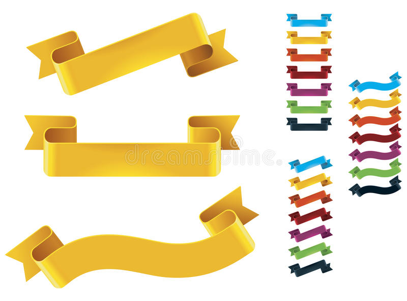 Download Vector ribbons set stock vector. Image of vector, curl - 26387612