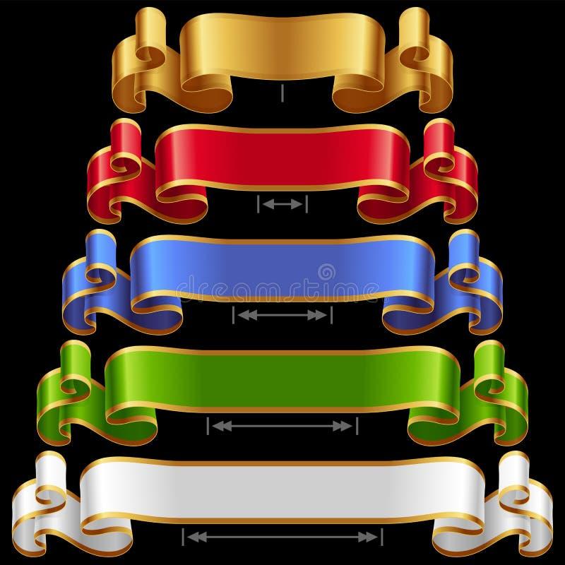 Vector Ribbons set 12 vector illustration