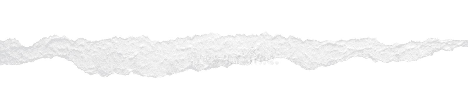 Vector ripped paper. White vector ripped paper design element vector illustration