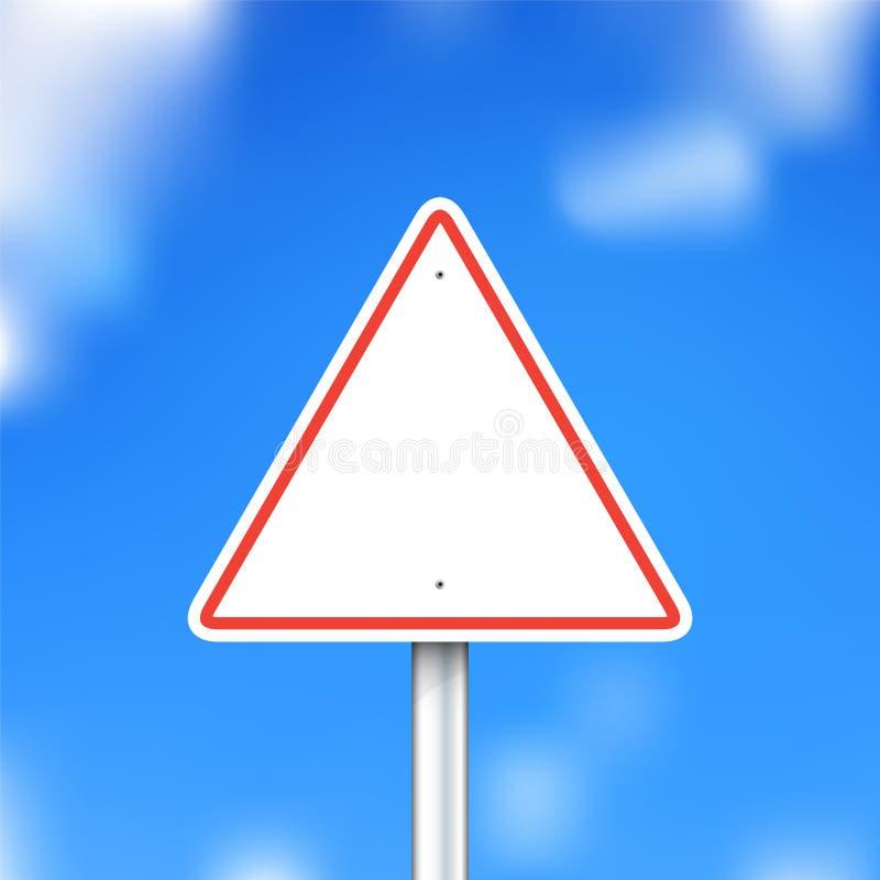 Vector road sign on blue sky background vector illustration