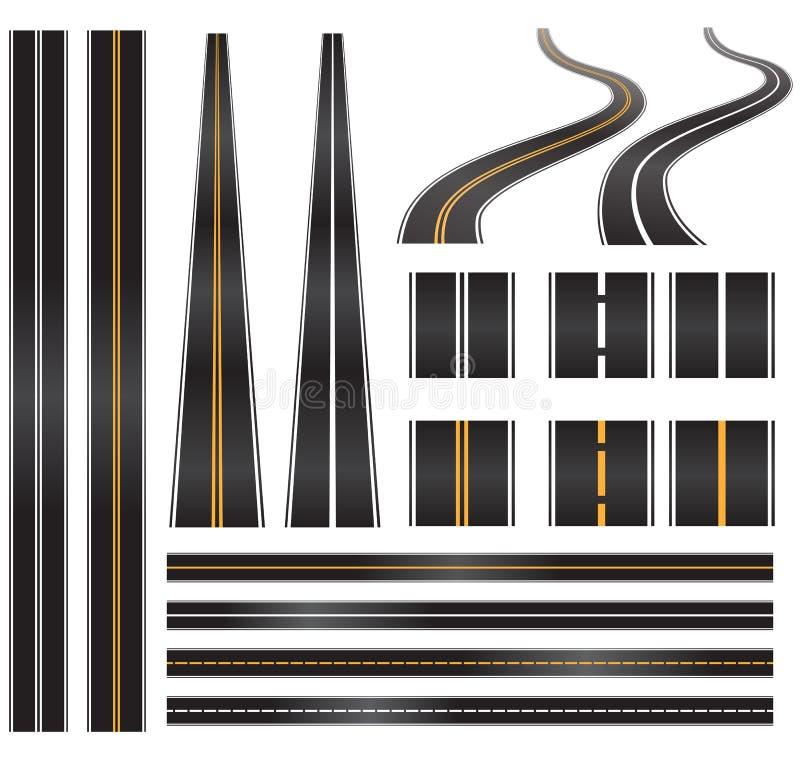 Vector roads royalty free illustration