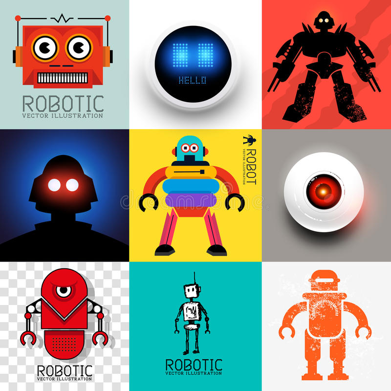 Vector Robot Collection vector illustration